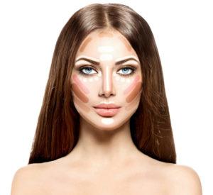 коррекция формы лица макияжем - на wikimakeup.ru
