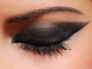 Основы макияжа с черными тенями
